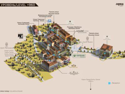 Карта корпусов «Горки Город Апартаменты +960»